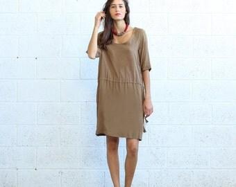 Raglan Dress- Khaki.