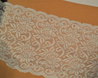 """Champagne Blush Lace 5"""" wide x 6 yards Long for Craft and Sewing Projects"""