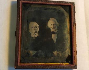 Old Antique Tin Type Photo Half Case