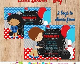 LITTLE BOWLER - BOY invitation - 3 to choose, You Print