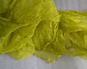 Silk for feltmaking 2 yards, nuno felting, felting, silk for felt, silk fabric, pure 100% silk