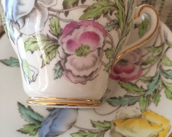 Salisbury bone china made in England antique tea cup and saucer