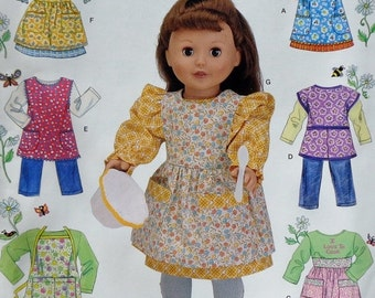 """50%OFF Simplicity 18"""" Doll Clothes Sewing Pattern 0634 UNCUT - Fits American Girl Our Generation Carpatina Gotz Dolls - Dress Jumper Shirt P"""