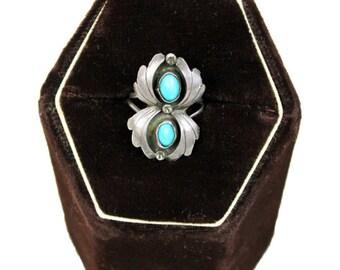 Vtg. 2 Stone Turquoise Ring