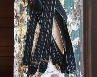 Vintage Geometric Braces in Black and Grey