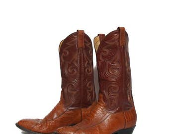 30% OFF 8.5 D | Men's Panhandle Slim Ostrich Leg Cowboy Boots in Brown