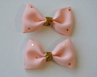 Baby Hair Bows, Bow tie hair bows, Pigtail Bows, Hair bow set, Nonslip bows, 2 inch Hair Bows, Toddler Hair Bows, Baby pig tail hair bow,
