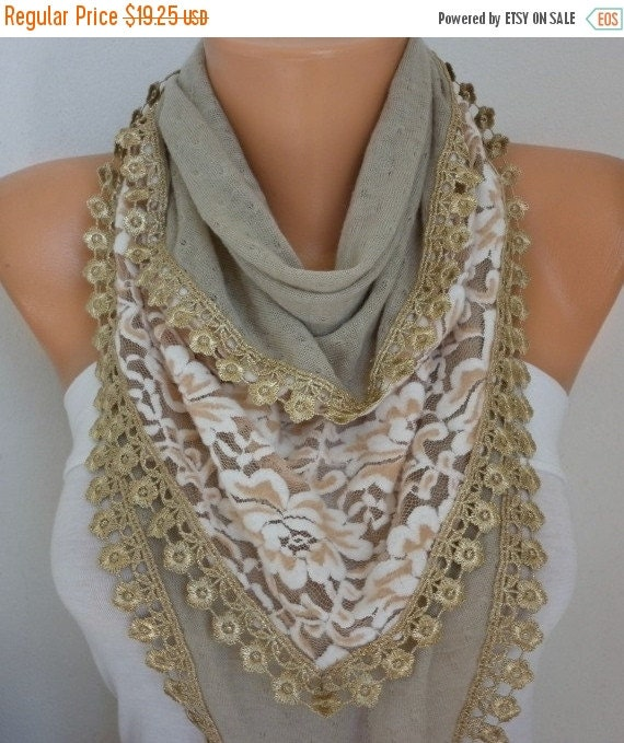ON SALE --- Beige Knitted Scarf,Shawl, Winter Scarf,Cowl Bridesmaid Bridal Accessories Gift Ideas For Her Women Fashion Accessories