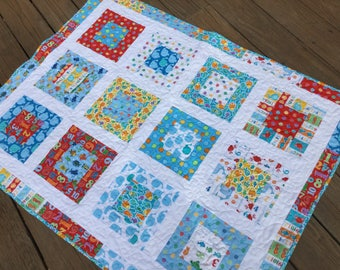 Counting Fish Baby Quilt