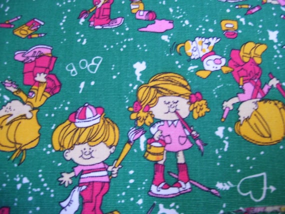 Heavy weight fabric with childrens print from annaviolets for Childrens patterned fabric