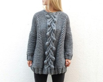 Bubbles and Cable Pullover.