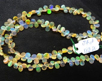 Ethiopian Opal Smooth Pear Drops Briolette Size 5x7 -4x7MM Approx 16'' AAA High Quality 34Ct- 182Pc Ethiopian Opal Beads
