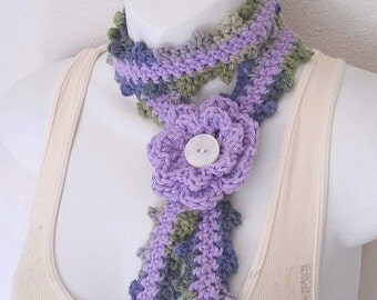 Crochet Skinny Scarf Pattern Only