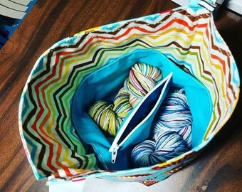 Small Project bag divider insert, teal