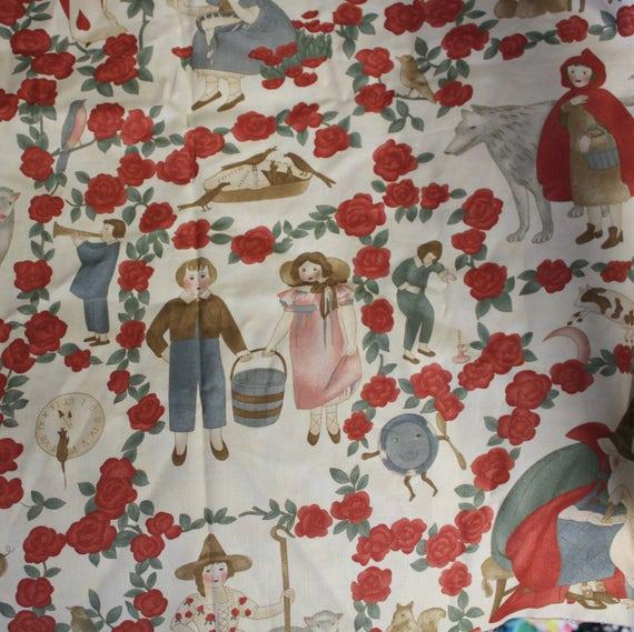 """Nursery fabric,Children's fabric,Nursery rhyme fabric,100% cotton fabric,Quilt fabric,Apparel fabric,Craft fabric,Moda,END OF BOLT 16"""" x 44"""""""