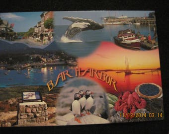 Vintage Bar Harbor Maine Post Card.....unknown age