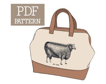 Sheep No. 26 Mason Bag Knitting Tote PDF Pattern
