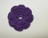 RUFFLED Spool Pin Doily (Purple)
