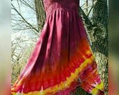 Tie Dye Dress Tie Dye Skirt Medium and Large