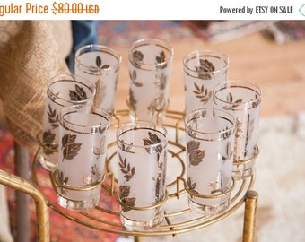 HOLIDAY SALE 10% OFF Mid Century Glassware Fall Leaves