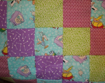 Rocko's Modern Life Patchwork  Quilt