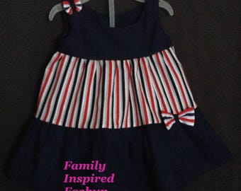 Baby patriotic outfit, take home outfit
