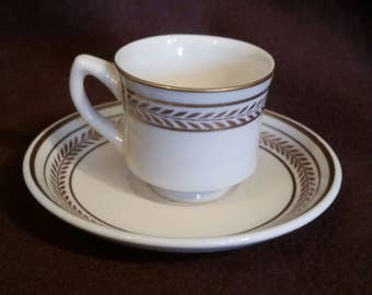 Jackson Reastaurant Tea Cup and Saucer, white restauratnt Demitasse Tea Cup #1