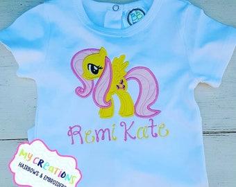 Fluttershy Pony My Little Pony Birthday Shirt