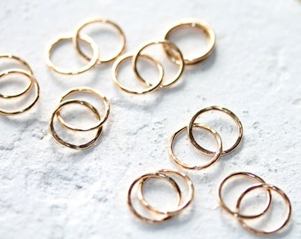 Gold Filled Linked Circle Pendant | Bracelet Infinity Links Connectors