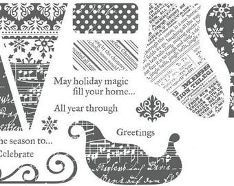 Clear stamp set Holiday Magic S1110