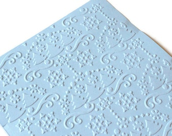 Embossed cardstock - Snow & Trees - you choose your colors