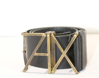 Vtg AX (Armani Exchange) Thick Leather Belt- EVBT3