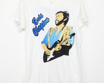 Eric Clapton Shirt Vintage tshirt 1981 Slow Hand Tour concert tee 1980s English Rock and roll blues band guitar Yardbirds Cream 80s