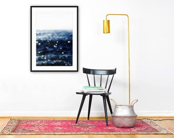 ocean photography // abstract art print // indigo navy blue art // minimalist ocean // Sea Dream, fine art photograph