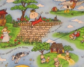 "Mother Goose fabric - by Mary engelheirt for Cranston Fabric - 44"" wide - 2 yds 8 in"