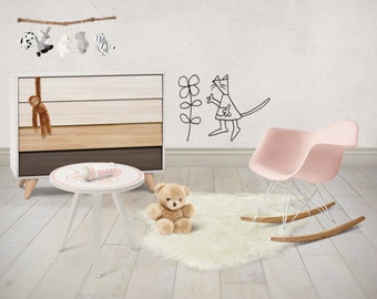 Wall Decal - The Mouse and The Flower