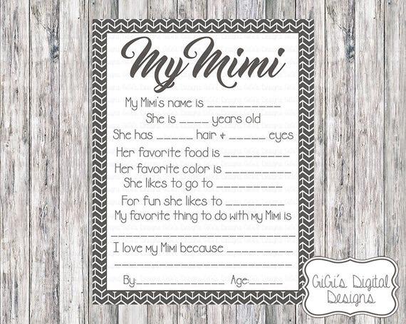 printable my mimi survey all about my mimi mimi survey mom