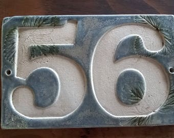 Bespoke ceramic house number sign