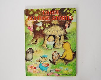 Three Bedtime Stories Book, The Three Kittens, The Three Little Pigs, The Three Bears, A Big Golden Book