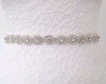 Crystal bridal belt beaded bridal sash belt