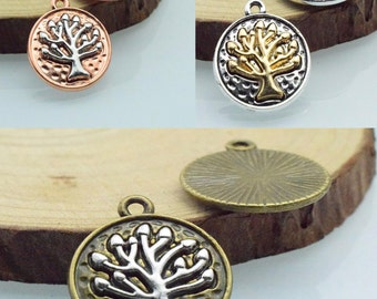 20pcs 20mm The Tree  Antique Bronze Retro Pendant Charm For Jewelry Bracelet Necklace Charms Pendants C8385-C8383