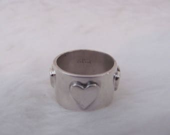 Vintage Sterling Silver 925 EXEX Claudia Agudelo 1989 Womens Heart Ring size 7 Sweetheart ring Designer Ring