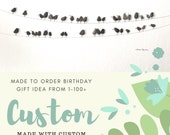 Made to order birthday milestone 40th, 50th, 60th, custom birds on a wire by sharon nowlan