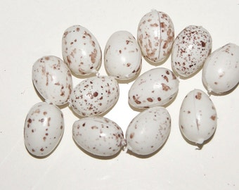 12 pc 1/2 Inch Speckled Craft Eggs (B679-N)