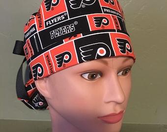 Flyers ponytail scrub cap