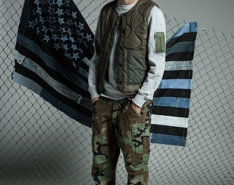 Army Green Quilted Vest