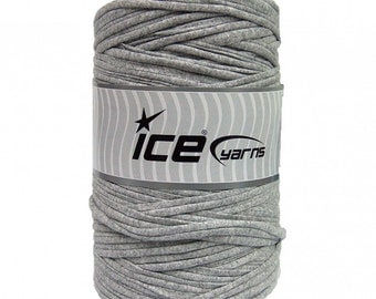 Grey T-Shirt Yarn - 87 yards - 400 g/14 oz - Fabric Selvedge