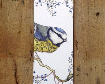 Bookmark with blue tit