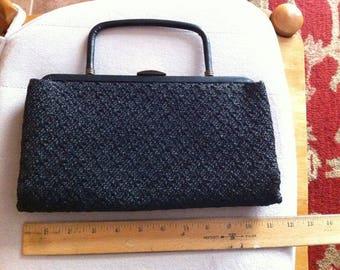 Ladies Garay Black Straw Handbag