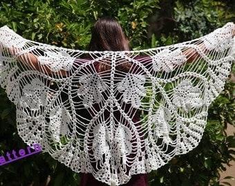 Shawl pattern Crochet shawl wrap Wedding shawl Wrap shawls  Crochet pattern Shawl crochet Wedding wrap